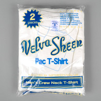velva sheen - crew neck pocket t shirt 2 pack white