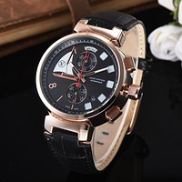8DESS LV Louis Vuitton Woman Men Fashion Quartz Movement Wristwatch Watch