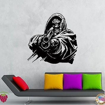 Wall Stickers Vinyl Decal Gangster Gunman Killer  With Shotgun Weapon Unique Gift (z2102)