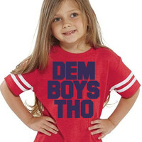 DEM BOYS THO Kids Tee Football Jersey | Sizes 2T to 5/6T | Kids Cowboys Shirt | Dem Boys Kids Shirt | Dallas Cowboys Tee jersey Kids | Nfl