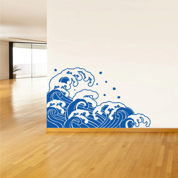 Wall Vinyl Sticker Decals Decor Art Bedroom Design Mural  Ocean Water Beach Wind (z2980)