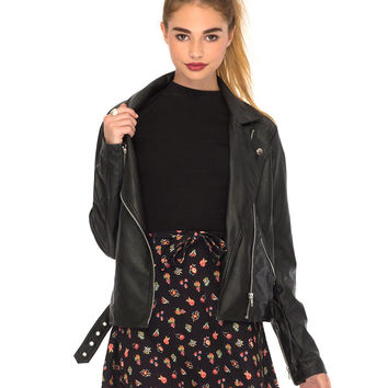Lori Skater Skirt in Flower Embroidery Print by Motel