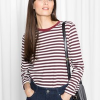 & Other Stories | Striped Sweater | Red/White