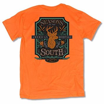 Southern Vine Seasons Of The South Deer Hunting Orange T-Shirt