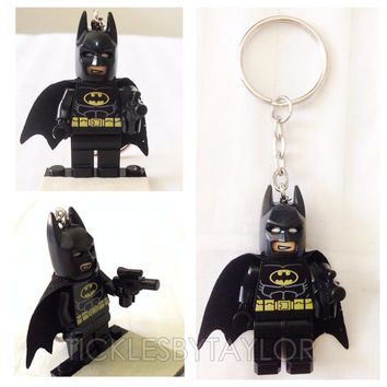 BOGO Buy 1 Get 1 Promo! Lego® BATMAN Justice League Keychain, Lego Superhero Keychain, FREE Lego® Minifigure Keychain Party Favors Gift