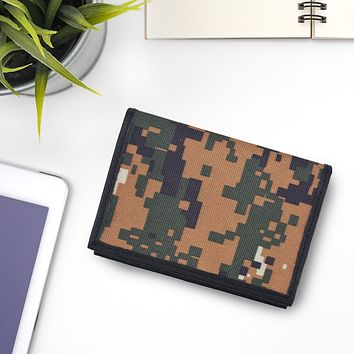 AFONiE RFID Camo Leather Business Card Case