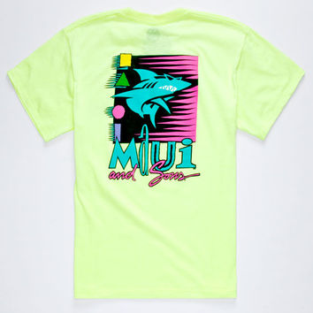 Maui And Sons Biting Edge Boys T-Shirt Yellow  In Sizes