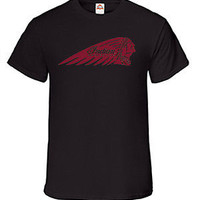 INDIAN MOTORCYCLE Logo RACING CARS  SPEED VINYL T Shirt TEE (Brand  New)