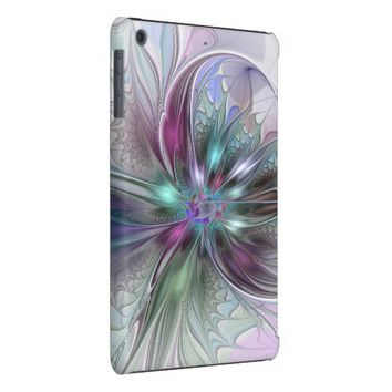 Colorful Fantasy, abstract and modern Fractal Art iPad Mini Retina Case