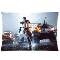 Brand New Battlefield 4 Rectangle One Pillow Case 20x30 (one side) Comfortable For Lovers And Friends