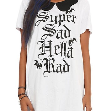 Iron Fist x Ash Costello Bat Royalty Super Sad Hella Rad T-Shirt Dress