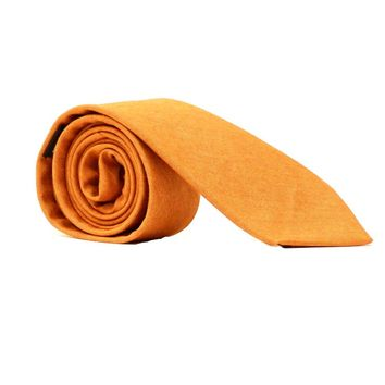 Solid Copper Melange Cotton Tie