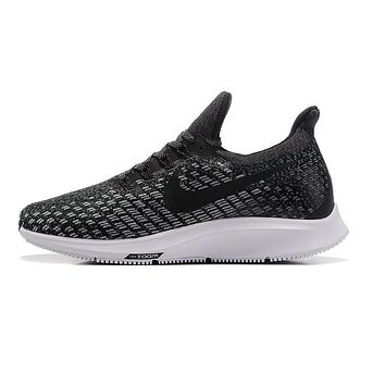 Nike Air Zoom Pegasus All Out Flyknit Black White Black