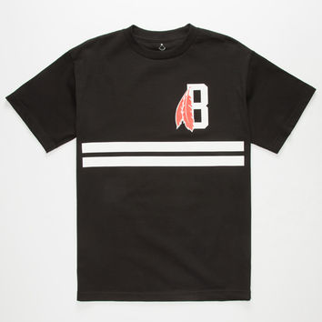 BLACK SCALE Classic B Feather Mens T-Shirt | Graphic Tees