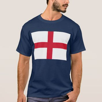 T Shirt with Flag of England.