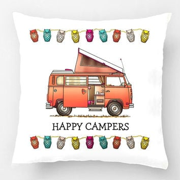 Campmobile Camper Van Pillow Wedding Decorative Cushion Cover Pillow Case Customize Gift By Lvsure For Car Sofa Seat Pillowcase