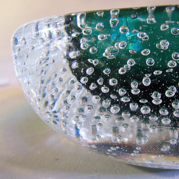 Small Italian Art Glass Bowl Sommerso with by thriftsift on Etsy