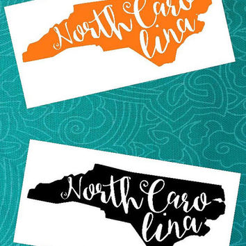 North Carolina Decal | Carolina Girl Decal | State Decal | Carolina Pride | Glitter Decal | North Carolina | Southern Decal | Sticker |Decal