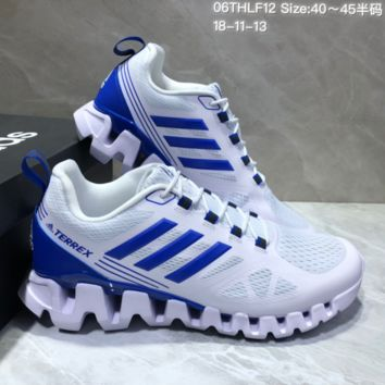 AUGUAU A482 Adidas Terrex High Frequency Breathable TPU Vamp Running Shoes Blue White