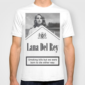 Del Rey Lana Cigarettes T-shirt by Marvin Fly