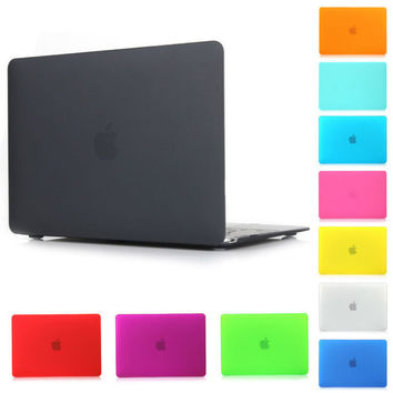 Best selling Crystal Matte For Macbook Air Pro Retina 11.6 12 13.3 15 inch Case Hard Shell with new Touch Bar Laptop Cover free