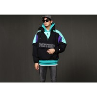 Mens 15 A/W Panthers Anorak Parka - Emerald at Fabrixquare