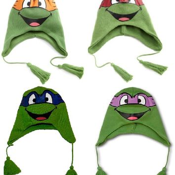 Teenage Mutant Ninja Turtle TMNT Winter Beanie Skull Laplander Knit Hat Cap New