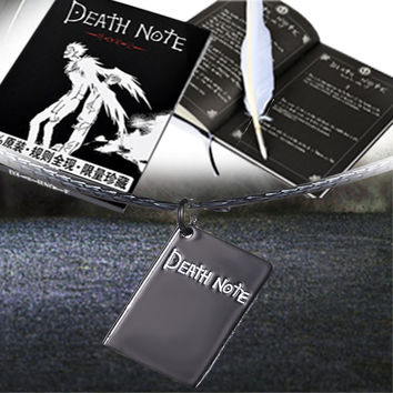 Stationery Set 3 In 1 Vintage Death Note Notebook Book Feather Pen&Pendant Leather Cover Ruled Page Light Yagami Ryuk God book