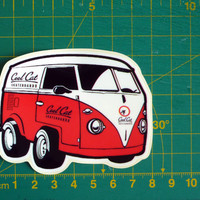 Cool Cat Skateboards Van Sticker Decal