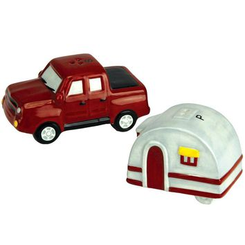 Truck And Trailer Salt And Pepper Shaker Set