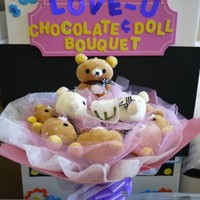 Cute Japanese Bear Doll Flower Bouquet