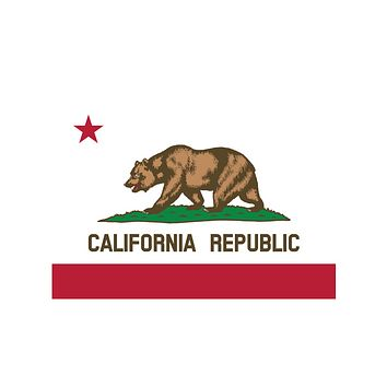 California State Flag Stickers