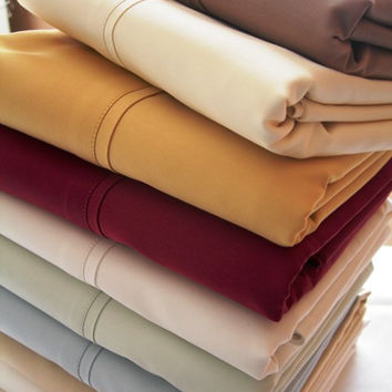 Olympic Queen Solid 300 Thread count 100% Egyptian cotton Sheet sets
