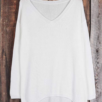 Cupshe Plain And Simple Casual Sweater