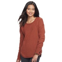 Juniors' Pink Republic Drop Shoulder Sweater | null
