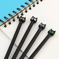 4X Cute Kawaii Black Cat Gel Pen Kawaii Korean Stationery Creative Gift School Supplies 0.5mm
