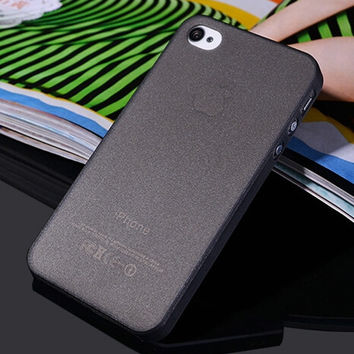 Black Ultra Thin Matte Soft Plastic Transparent Phone Back Cover Case For iPhone 4 4s 5 5s SE 6 6s 6 Plus 6s Plus
