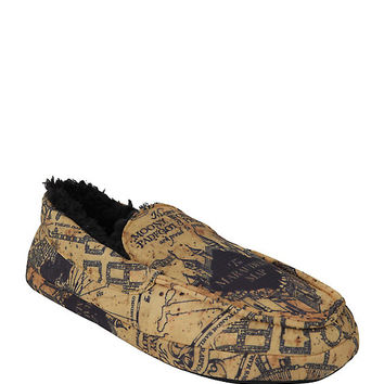 Harry Potter Marauder's Map Guys Moccasin Slippers