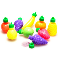 Candy Powder Filled Plastic Fruits Medley: 100-Piece Bag