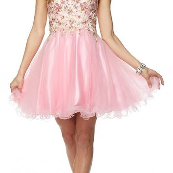 Juliet 788 Embroidered Bodice Corset Back Sweet Sixteen Dress Blush