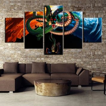 Dragon Ball Z Shenron's Wish Canvas Panel Print Home Wall Art Decor Picture
