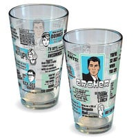 Archer Quotes Pint Glass - Icup - Archer - Barware at Entertainment Earth