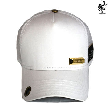 Red Monkey Gold Bar White Trucker Hat