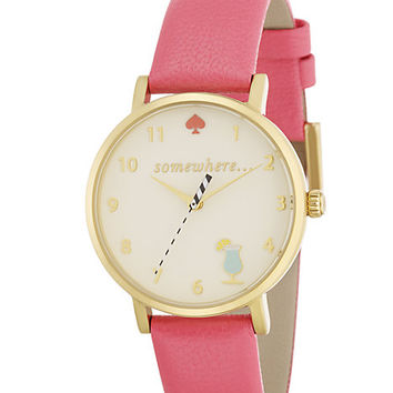 Kate Spade Happy Hour Metro Watch Flamingo Pink