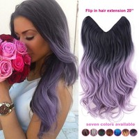 Ombre 20 inches flip in tangle free Hair Extension