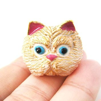 Detailed Kitty Cat Enamel Animal Ring in US Size 7 to 9 | Limited Edition