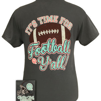 Girlie Girl Originals Time For Football Y'all Team Bright T Shirt