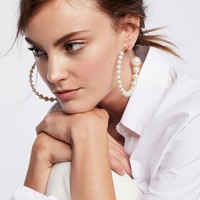 Free People Graduated Pearl Hoops