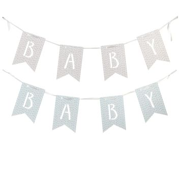 """""""Baby"""" Pennant Banner - Blue"""