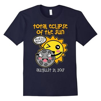 Total Eclipse August 2017 Cute Moon And Sun T-shirt